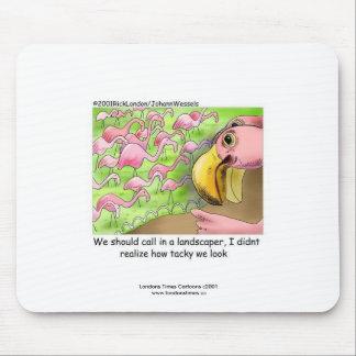 Tapis de souris drôle de flamants roses de mauvais