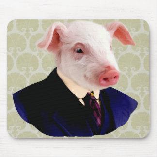 Tapis de souris drôle de porc