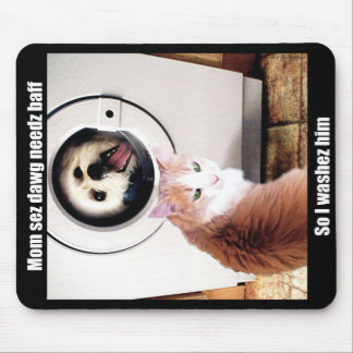 Tapis de souris drôle d'humour de Meme de chat de