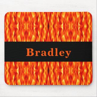 Tapis de souris du feu d'abrégé sur orange de