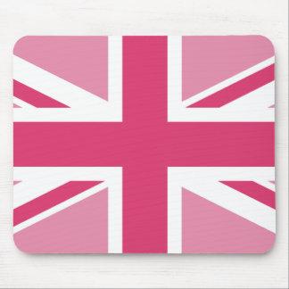 Tapis De Souris ~ d'Union Jack dans des roses Girly