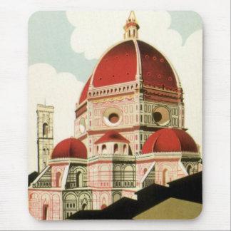 Tapis De Souris Duomo vintage d'église de Florence Firenze Italie