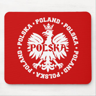 Tapis De Souris Eagle polonais avec le texte de la Pologne Polska