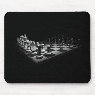 Tapis De Souris Échiquier blanc noir du Roi de pièces d'échecs