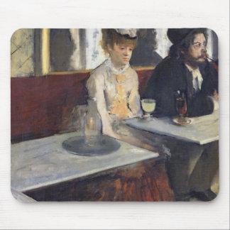 Tapis De Souris Edgar Degas   dans un café, ou l'absinthe