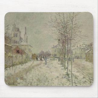 Tapis De Souris Effet de neige de Claude Monet |