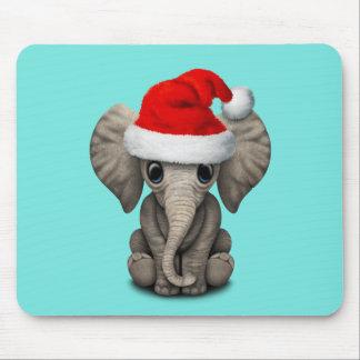 Tapis De Souris Éléphant de bébé utilisant un casquette de Père