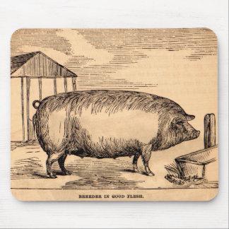 Tapis De Souris Éleveur du 19ème siècle de ` d'impression de porc