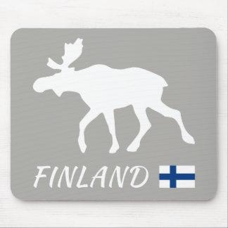 Tapis De Souris Elk de Finlande and drapeau