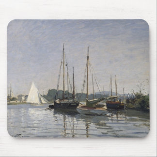 Tapis De Souris Embarcations de plaisance de Claude Monet |,