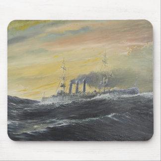 Tapis De Souris Emden monte l'Océan Indien 1914 2011 de vagues