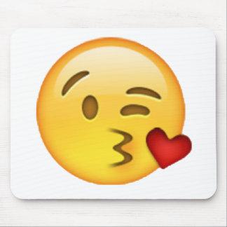 Tapis De Souris Emoji - baiser de lancement