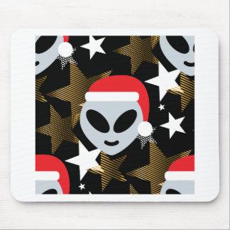 Tapis De Souris emoji d'alien de père Noël