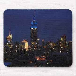 Tapis De Souris Empire State Building tout dans le bleu, horizon