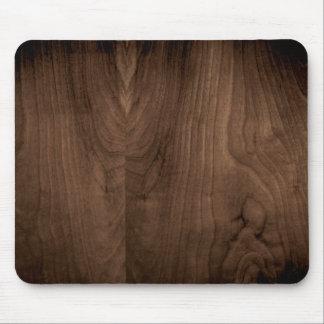 Tapis de souris en bois d'acajou profond de grain