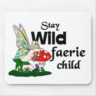 Tapis De Souris Enfant sauvage Mousepad de féerie de séjour