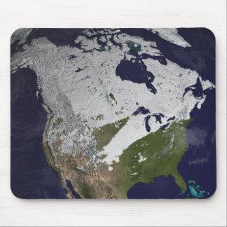 Tapis De Souris Enneigement d'hiver dans l'hémisphère nord