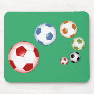 Tapis De Souris Ensemble de ballons de football
