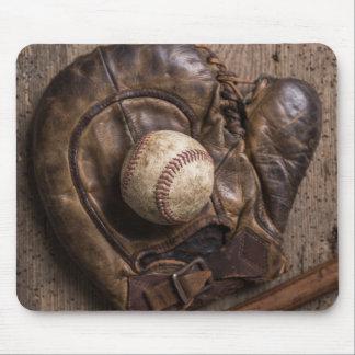 Tapis De Souris Équipement de base-ball vintage