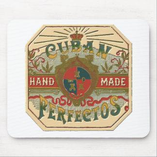 Tapis De Souris Étiquette de tabac de Perfectos de Cubain