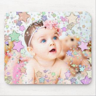 Tapis de souris étoilé de photo de bébé