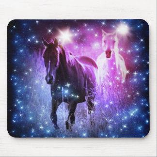 Tapis De Souris Étoiles bleues de pourpre de galaxie romantique