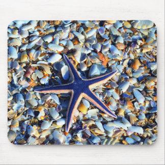 Tapis De Souris Étoiles de mer chics et coquillages