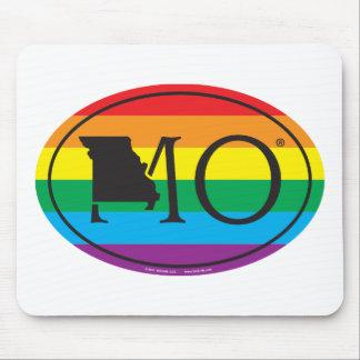 Tapis De Souris Euro de fierté d'état de LGBT : MOIS Missouri