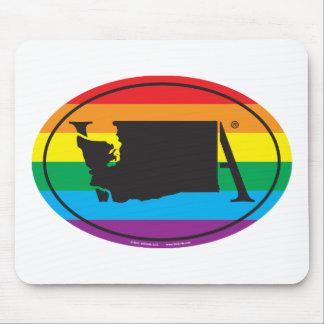 Tapis De Souris Euro de fierté d'état de LGBT : WA Washington