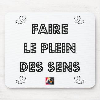 Tapis De Souris Faire le PLEIN DES SENS - Jeux de Mots