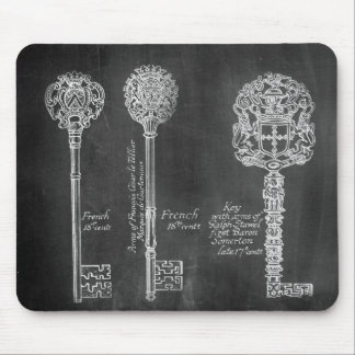 Tapis De Souris fausses clés victoriennes de steampunk de tableau