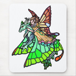 Tapis De Souris Fée de cavalier de dragon