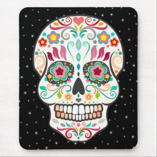 Tapis De Souris Feliz Muertos - crâne de fête Mousepad de sucre