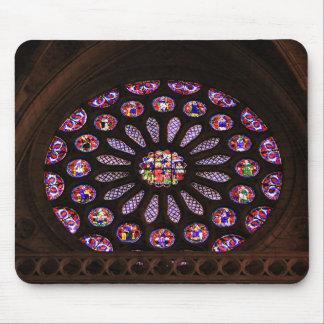 Tapis De Souris Fenêtre de cathédrale de Léon, EL Camino, Espagne