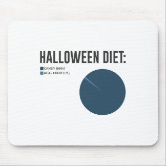 Tapis De Souris Festins de bonbons à régime de Halloween et