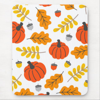 Tapis De Souris Feuille et citrouilles d'automne
