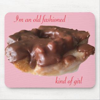 Tapis De Souris Fille de mode de chocolat de beignet vieille