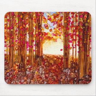 Tapis De Souris Flamme d'automne - conception originale d'encre