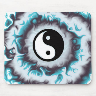 Tapis De Souris Flamme de Yin Yang Teal