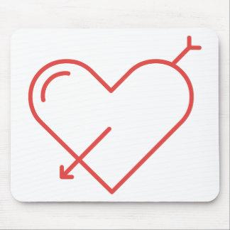 Tapis De Souris Flèche par le coeur