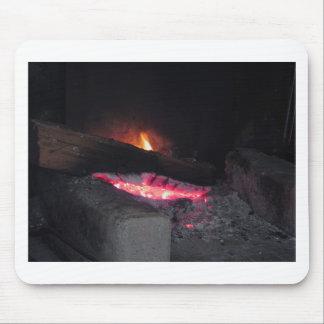 Tapis De Souris Flèches de la chaleur de flamme du feu en bois