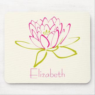 Tapis De Souris Fleur de Lotus/nénuphar personnalisés