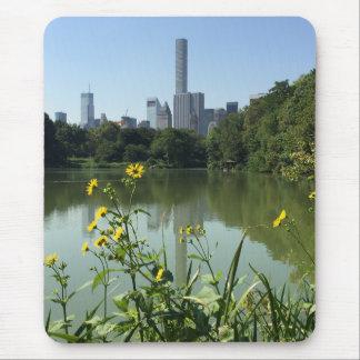 Tapis De Souris Fleur d'horizon de New York City NYC de lac