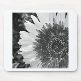 Tapis De Souris Fleur noire et blanche