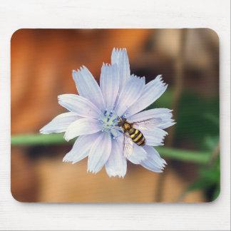 Tapis De Souris Fleur sauvage et mouche américaine Mousepad de