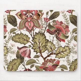 Tapis De Souris Fleur vintage rustique de Paisley sur l'arrière -