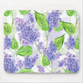 Tapis De Souris Fleurs de lilas d'aquarelle