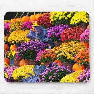 Tapis De Souris Fleurs et citrouilles