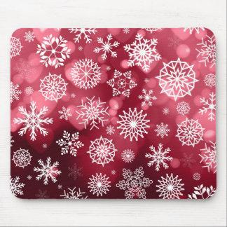 Tapis De Souris Flocons de neige sur un arrière - plan | Mousepad