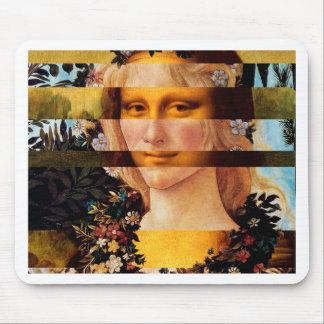 Tapis De Souris Flora de Mona Lisa et de Botticelli de Leonardo